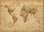 GB World Map - Vintage  - Maxi Paper Poster
